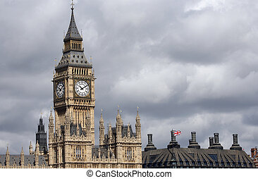 London skyline, Westminster Palace, Big Ben