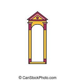 London soldier box icon, cartoon style