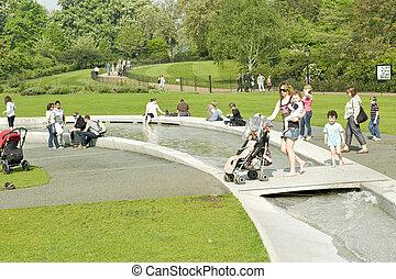 london, sommer, park