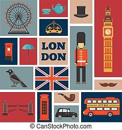London Square Icon Set