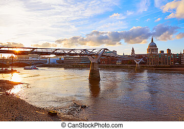 London St Paul Pauls cathedral from Millennium - London St...