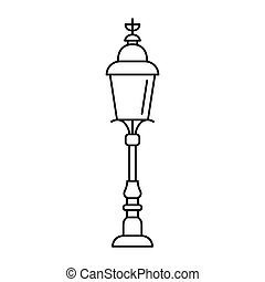 London Street Light Icon Outline Style