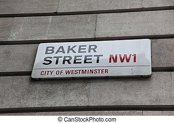 London Street Sign, Baker street
