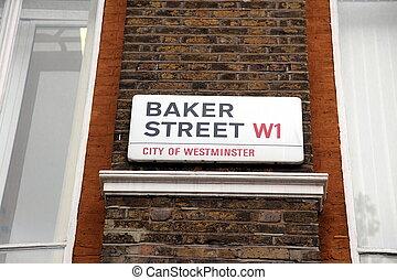 London Street Sign, Baker street, UK