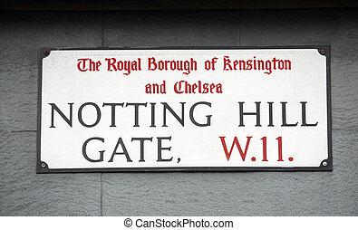 London Street Sign, NOTTING HILL GATE