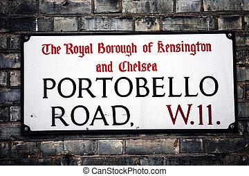 London Street Sign, Portobello Road