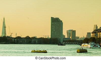 London Sunset, Thames, Shard, City