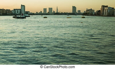 London Sunset, view of the Thames f