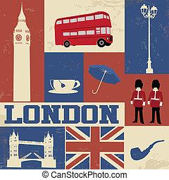 london, symbole, plakat