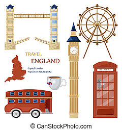 London symbols and architecture set collection Vector