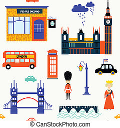 London symbols funny seamless pattern