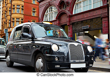 London Taxi at Oxford Street W1 Westminster in UK England