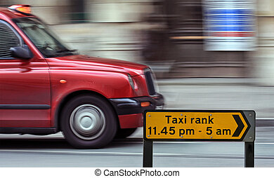 London taxi cap speed blur