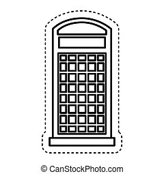 London telephone booth isolated icon