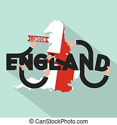 London The Capital City Of England Typography Design Vector Illustration
