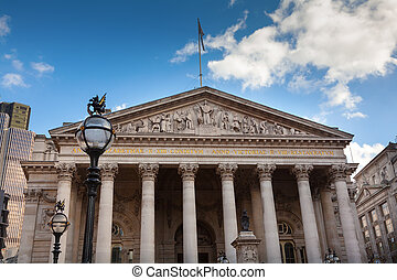 London the Royal Exchange building from the front - The...