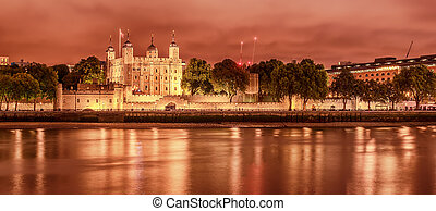 London, the United Kingdom: the Tower from the River Thames