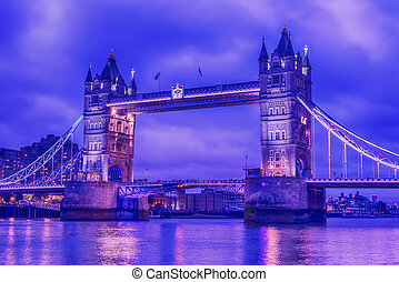 London, the United Kingdom: Tower Bridge on River Thames