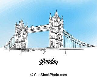 London Tower Bridge Banner