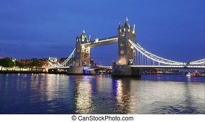 London Tower Bridge Day To Night Time Lapse