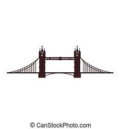 london tower bridge icon vector graphic