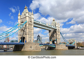 London Tower Bridge - London River Thames and Tower Bridge...