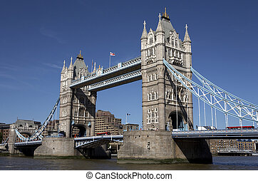 london tower bridge on the river thames one of London's most...