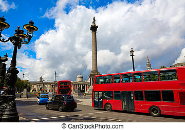 London Trafalgar Square in UK england