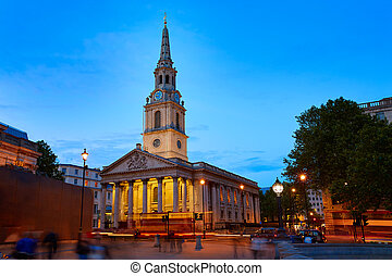 London Trafalgar Square St Martin church of England