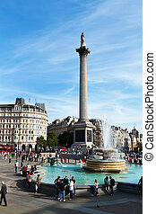 london trafalgar square - trafalgar square in london. a...
