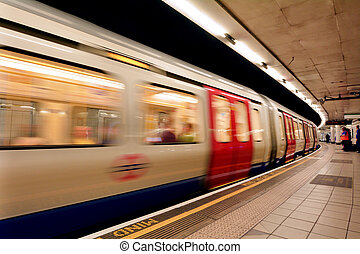 London Underground - LONDON, UK - MAY 12 2015:London...
