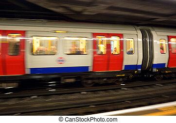 London Underground - LONDON, UK - MAY 12 2015:Passengers on ...