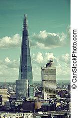 The Shard - LONDON, UK - SEP 27: The Shard and urban...