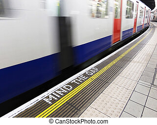 London underground - Mind the gap, warning in the London...