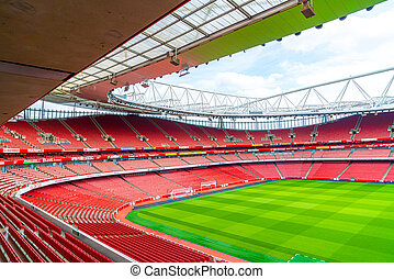 London, United Kingdom - AUG 31,2019: A picture of empty ...