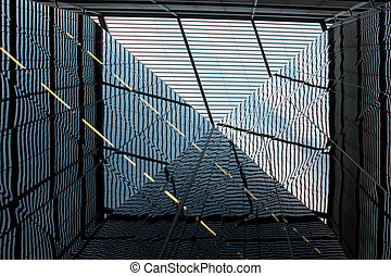 London, United kingdom - glass facade of the building during the open day