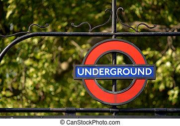 london unterirdisch, zeichen