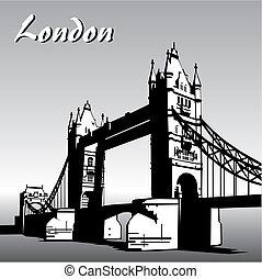 london - vector image of london symbols. Famous London...