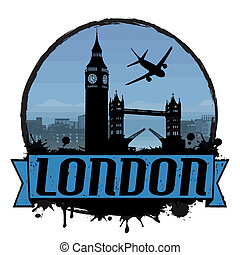 London vintage background