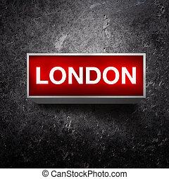 London Vintage light display