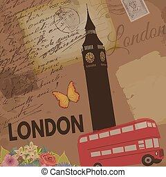 London vintage poster