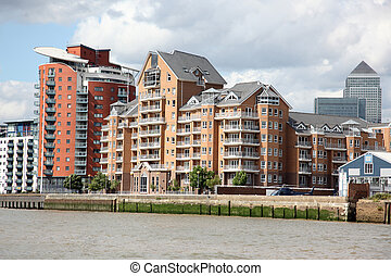 London, warehouse converted into The apartments on the...