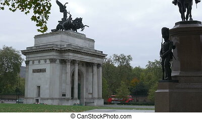 London Wellington Arch - Front view of the Wellington Arch,...