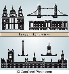 londra, limiti, e, monumenti