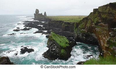 Londrangar Cliffs in Iceland.