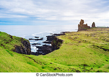 Londrangar - tourist attraction of Iceland - Landscape ...