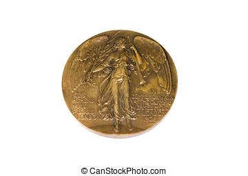londres, 1908, jeux olympiques, participation, médaille, obverse, kouvola, finlande, 06.09.2016.