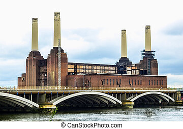 londres, battersea, powerstation, hdr