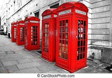 londres, cabines téléphoniques