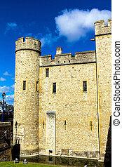 londres, central, bâtiment, tour, historique, nord, rivière, château, banque, tamise